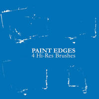 Paint Edges - 4 Hi-Res Brushes by Martijn86