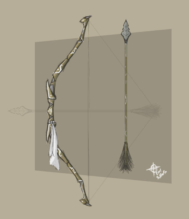 Vault Room/Diego Namez Forest_tribal_bow_and_arrow_by_mrninjutsu-d3extxe