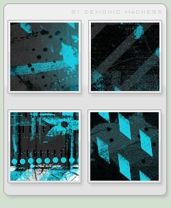 Blue and black icon textures by demonic-madness
