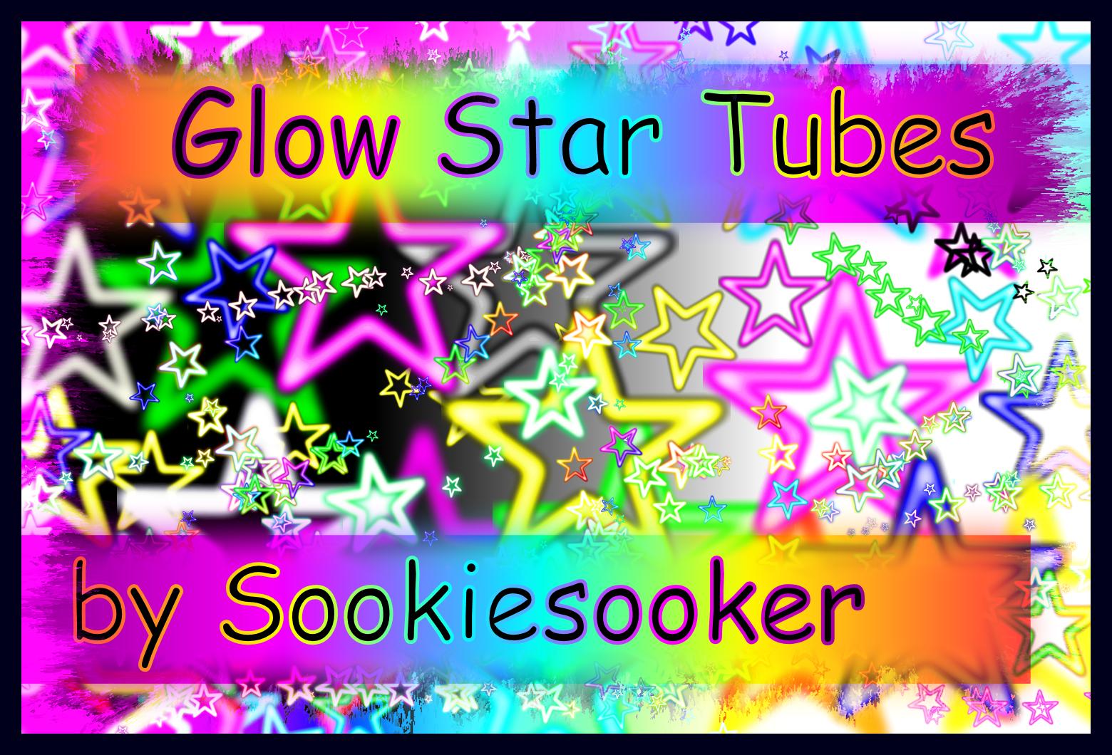 Corel PSP Glow Star Tubes by Sookiesooker by sookiesooker
