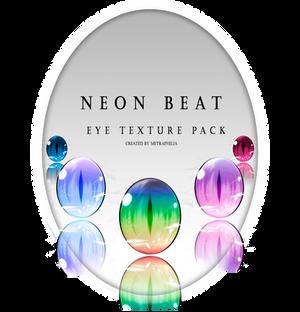[Eye Texture pack] Neon Beat Free DL + Ptu .psd
