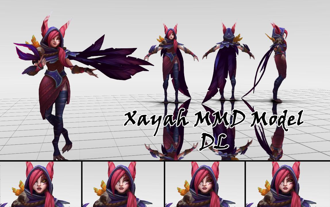 Xayah mmd model dl by kadajogameover on deviantart for Deviantart vrchat avatars