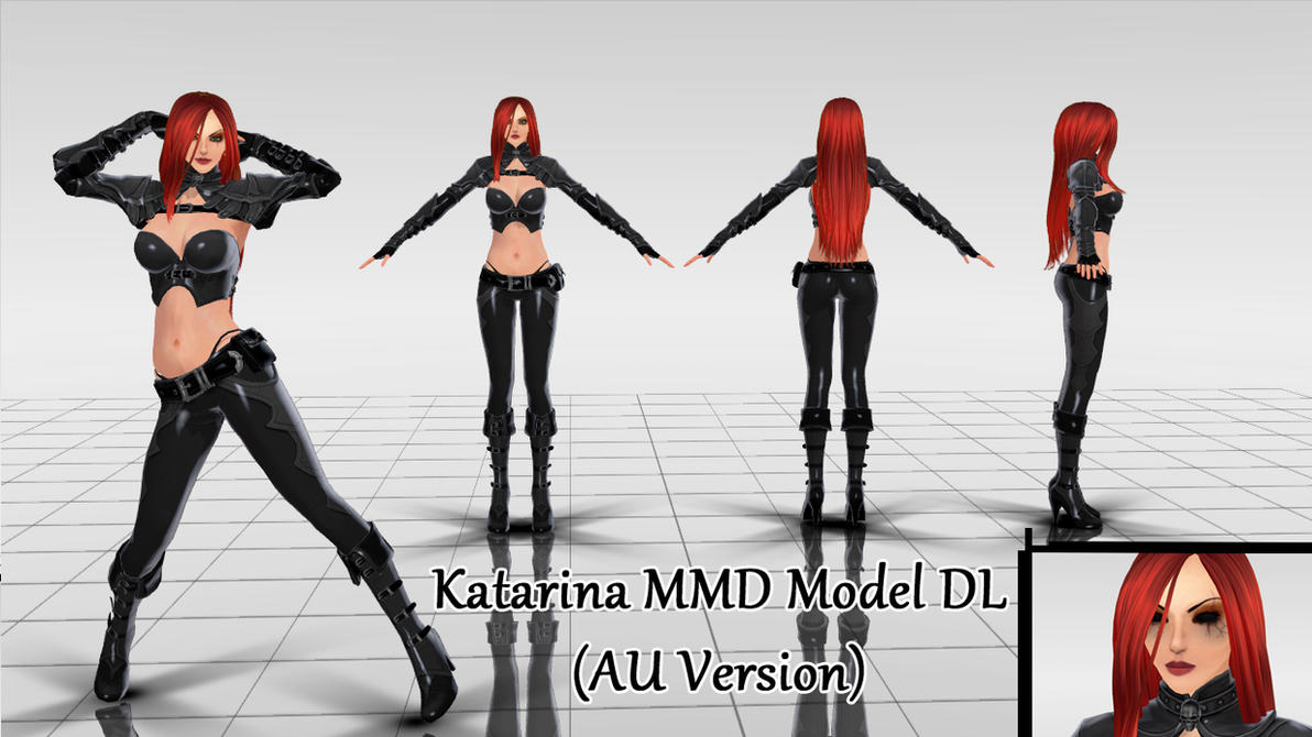Katarina MMD Model DL (AU version) by KadajoGameOver ...