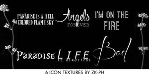 6 Text Textures by ZK-PH