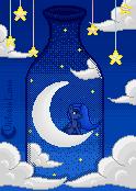 |GIF|Lunar Bottle by Victoria-Luna