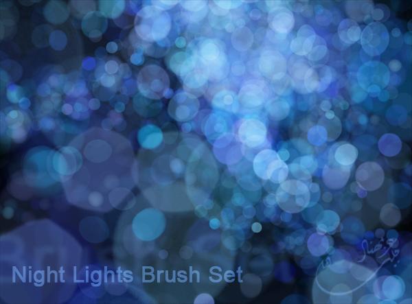 Night Lights Brush Set by m-ajinah