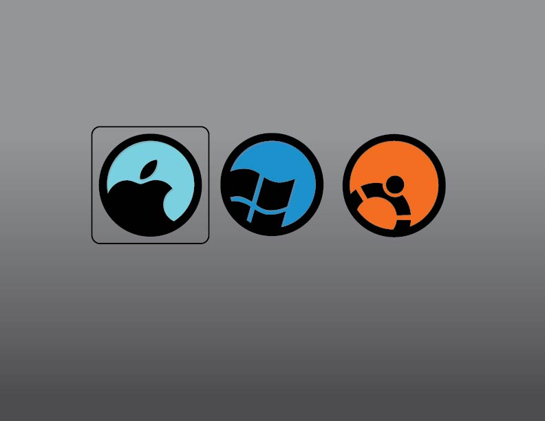 rEFIt Icon Design - Mac, Windows, Ubuntu by themichaelbrave