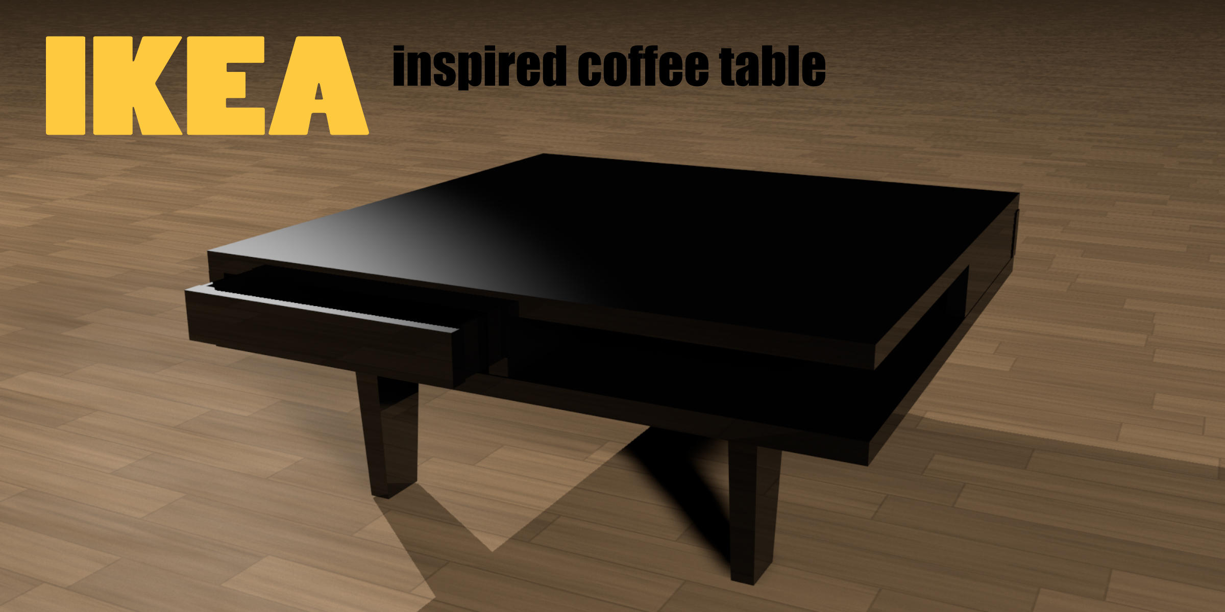 Ikea inspired coffee table by integritydesign on deviantart for Table design 3d