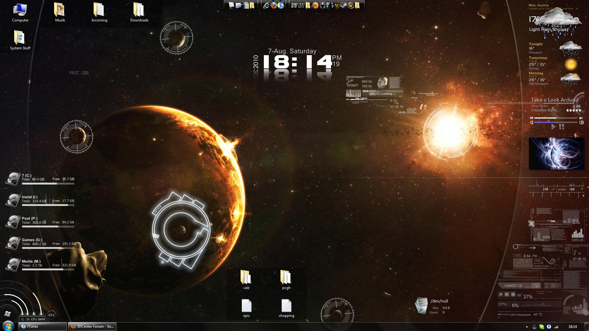 Inferno rainmeter desktop by rakyr on deviantart for Bureau windows 7 rainmeter