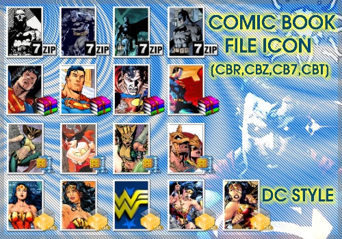 Comic book file icon DC style by necro-rk