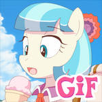 Coco Pommel Licking Ice Cream
