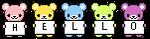Hello Bears (Free Use) by inkbutt