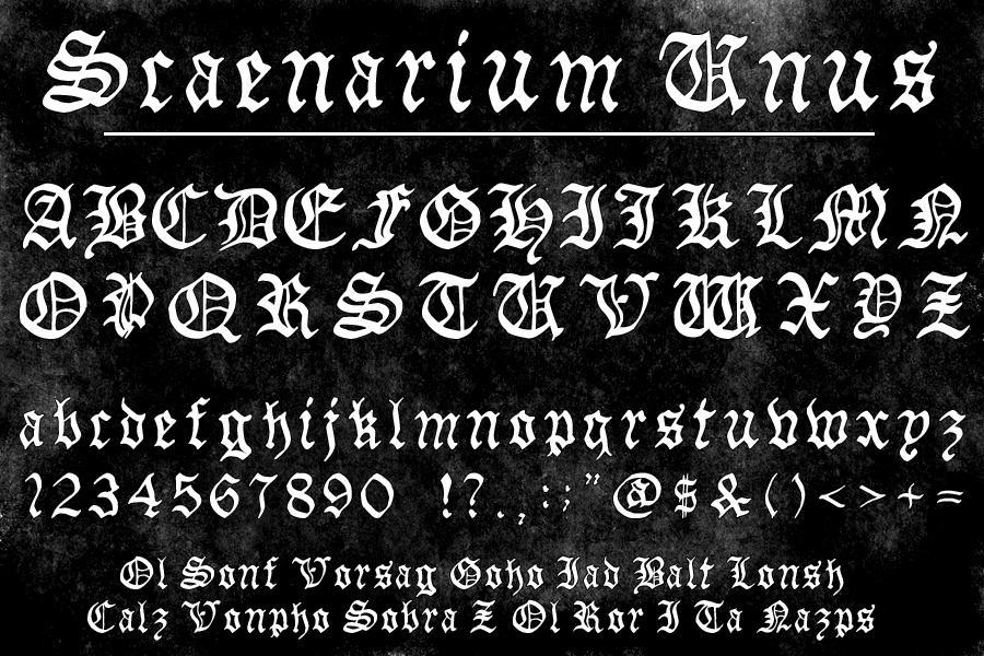 Scaenarium Unus Font by MartinSilvertant