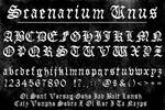 Scaenarium Unus Font