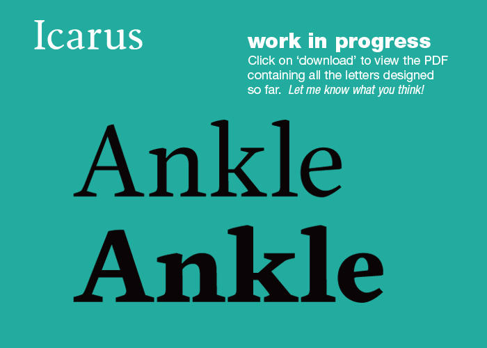 Icarus Typeface preview by MartinSilvertant