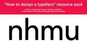 'How to design a typeface' resource pack