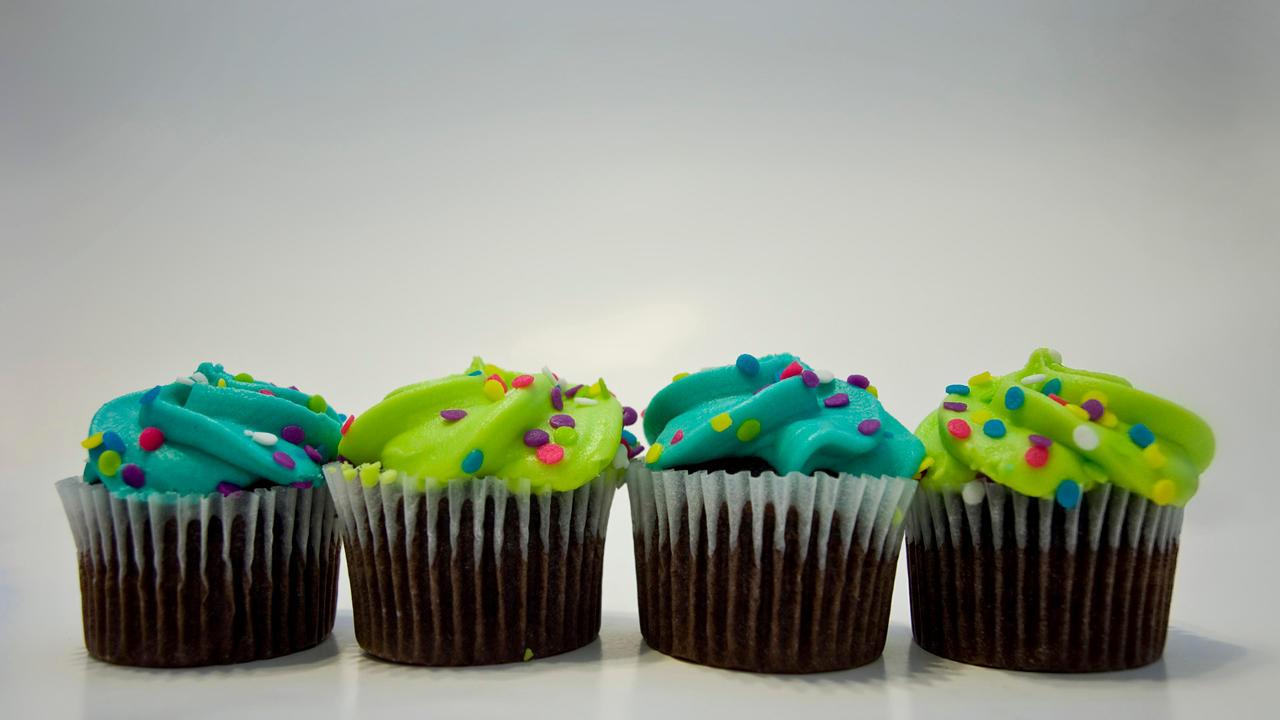 cupcake lineup wallpaper by chaosbolt on deviantart