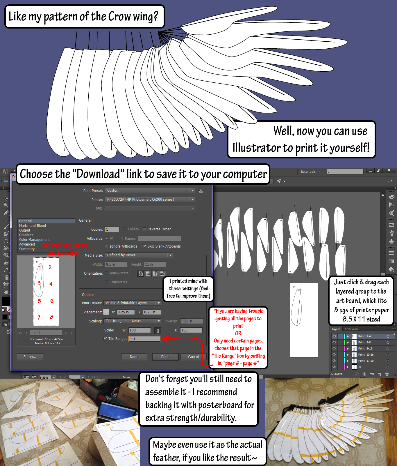 Crow wing blueprint ai and pdf download by sunnybrook1 on deviantart crow wing blueprint ai and pdf download by sunnybrook1 malvernweather Gallery