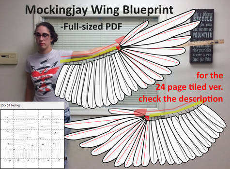 Mockingjay Wing Blueprint - PDF Printable
