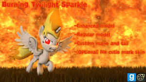 [DL] Burning Twilight Sparkle by MythicSpeed
