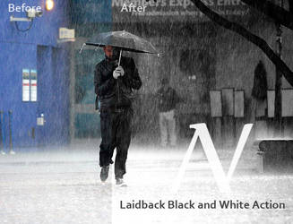 Laidback Black and White action by AnthonyVyner