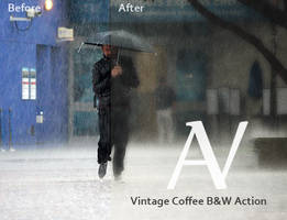 Vintage coffee Black and White Action by AnthonyVyner