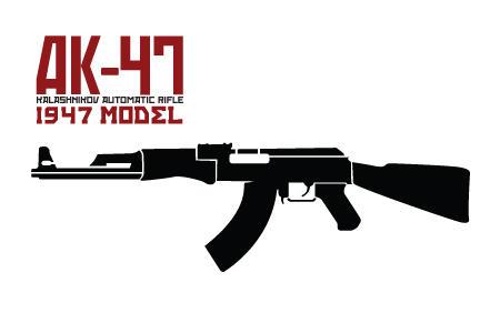 AK 47 Stencil by car54