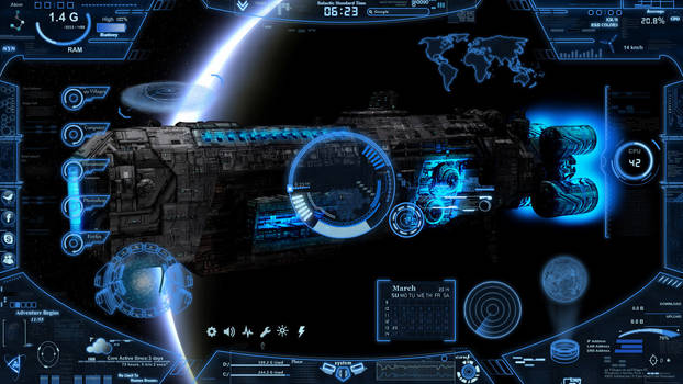 Neon Space Rainmeter  3.0  2019 by 99villages