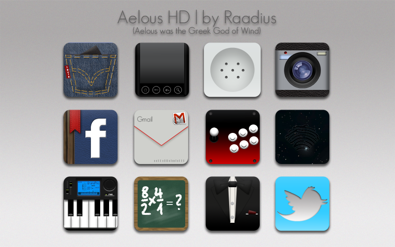 Aeolus HD social and application icons