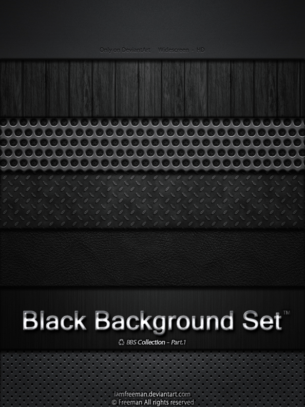 Black Background Set by iAmFreeman