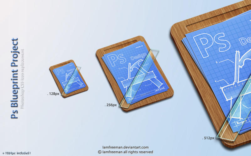 PS Blueprint project by iAmFreeman - Ücretsiz Photoshop Simgeleri
