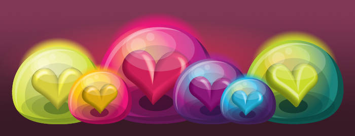 Heart Bubble Icons - Revised