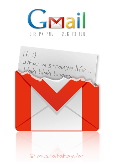 gmail - dock icon by mustafahaydar