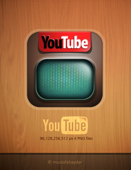 dock icon for YouTube by mustafahaydar
