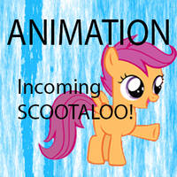 Incoming Scootaloo Hug (Animation) by TabbyDerp