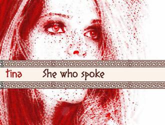 She who spoke by GoddessTina
