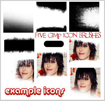 5 Icon Sized Gimp Brushes by SuicideLollies