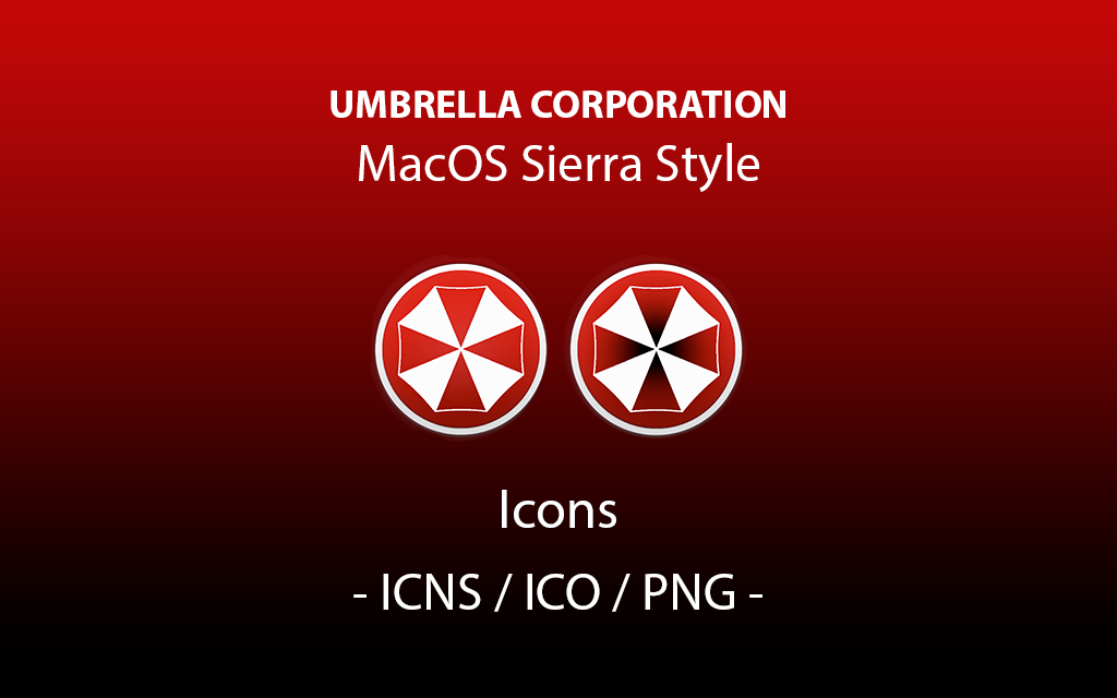 Umbrella Corporation ICONS (MacOS Sierra Style) by LookTheLife