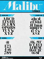 Malibu TypeFace by Weslo11