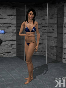 Ashley Williams Blue Bikini (XPS)