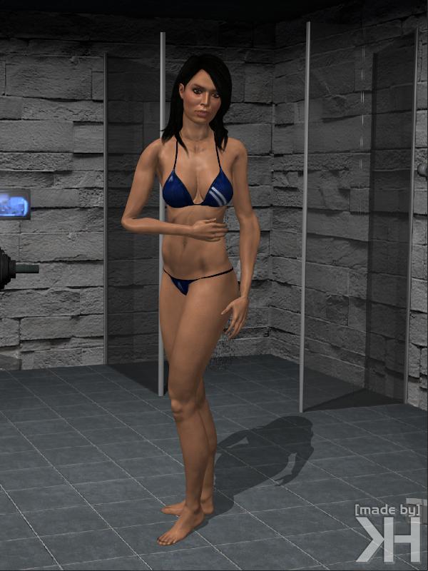 3d miranda lawson hot dancing mass effect - 1 6