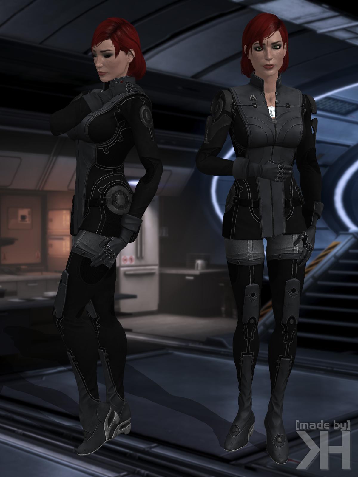 Jane Shepard Black Uniform (XPS) by Grummel83