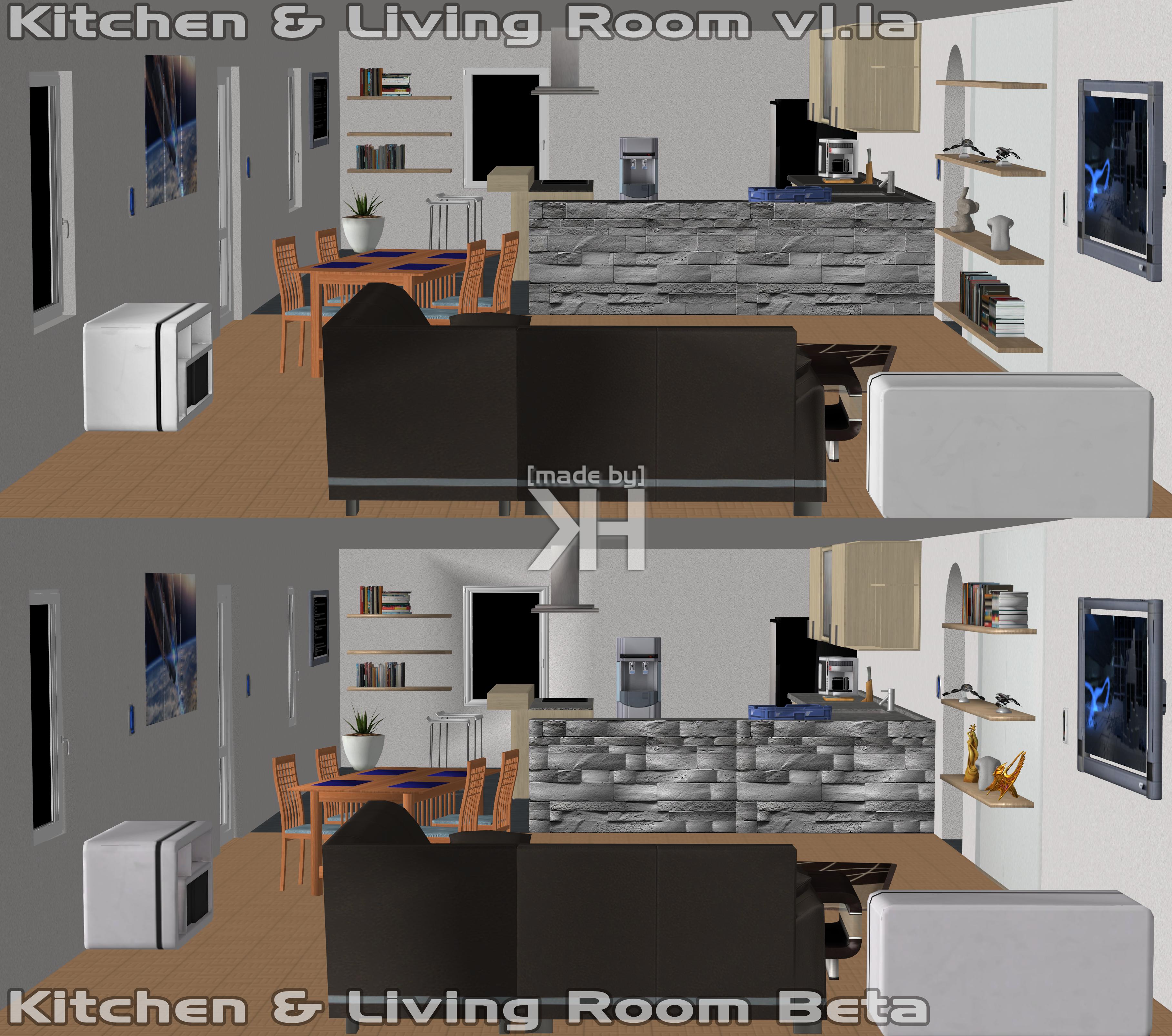 Kitchen And Living Room V1.1a (XPS) By Grummel83 On DeviantArt