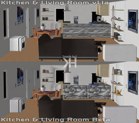 Kitchen and Living Room v1.1a (XPS) by Grummel83