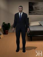 John Shepard Dark Grey Suit (XPS)