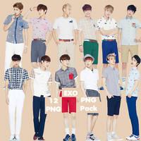 EXO's PNG Pack {IVY Club 2014 Part.3} by kamjong-kai