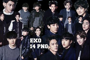EXO PNG Pack {Season Greetings 2015 Part. 4} by kamjong-kai