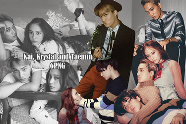 Taemin, Kai and Krystal PNG Pack {W Korea Part. 2} by kamjong-kai