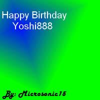 GA: Happy Birthday Yoshi888 by Silverfur15