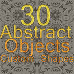 30 Abstract Objects Custom Shapes Pack